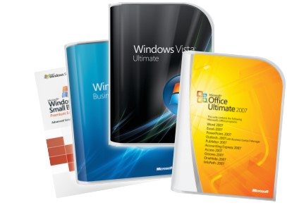Microsoft range of products - including Windows Vista Business and Ultimate, Office 2007 and Server 2003